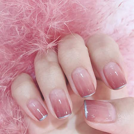 Featured image of post Pink And Silver Acrylic Nails To the shades of varnish which will not disregard a bright girl
