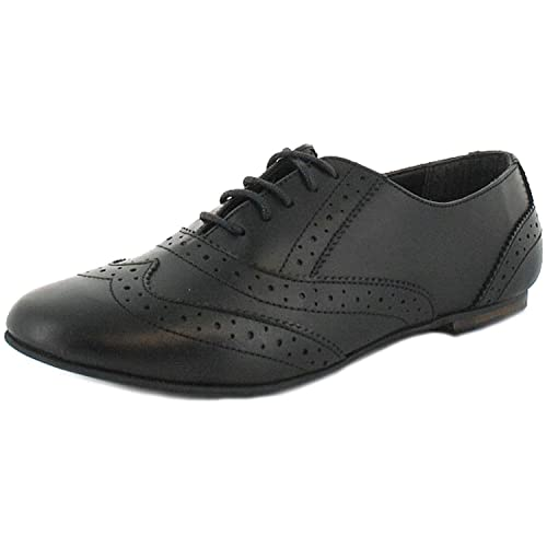 Womens Low Heel Pumps Ladies Kids Flat T-Bar Work Office Girls School Shoes Size