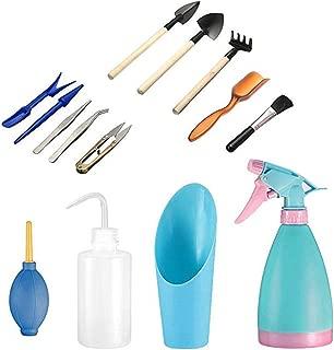 Mini herramientas de mano de jardinería(14 Pcs),Las