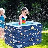 YONSIN Komplett automatisch Aufblasbarer Pool Family Pool für Kinder Baby Pool Schwimmbecken rechteckig für Kinderpool Swim-Center Family Lounge Pool (M, Blau)
