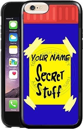 b3214544f5d6f6 BleuReign(TM) Personalized Custom Name Funny Michael s Secret Stuff TPU  Rubber Silicone Phone Case