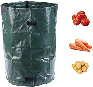 Garden Potato Cultivates Bags, Planting Pot with Access Pane Handles Lightweight Heavy Duty