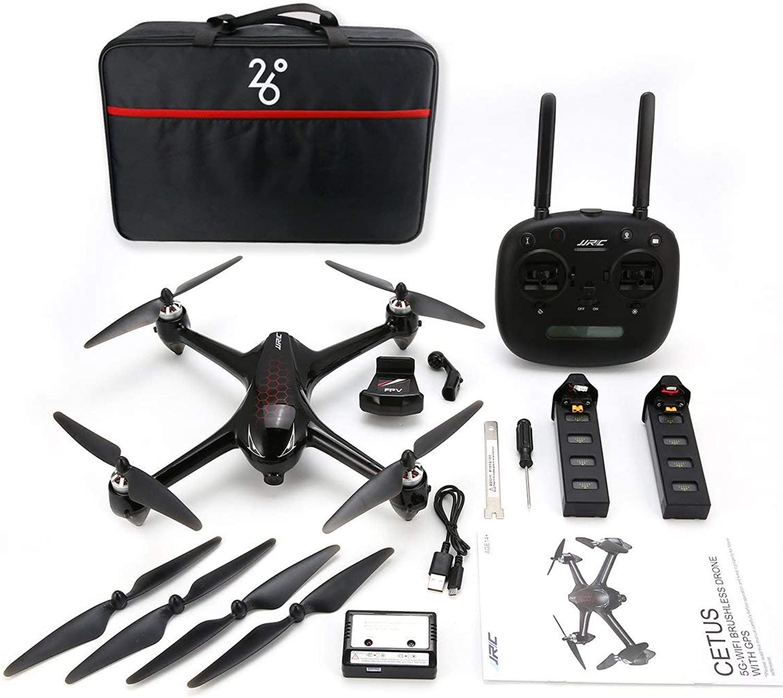 comprar marca Funnyrunstore JJR JJR JJR   C X8 RC Helicóptero 2.4G Motor Brushless RC Drone con 5G WiFi 1080P HD Cámara GPS Quadcopter Baterías Dobles  comprar descuentos