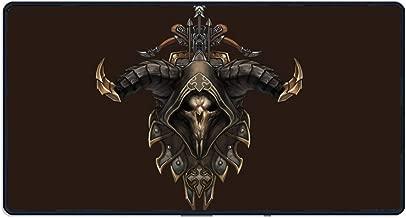 Diablo Demon Hunter Male 31.5Lx11.8Wx0.15H- Extended Gaming Mouse Pad Portable Large Desk Pad for Laptop - Non-Slip Rubber Base