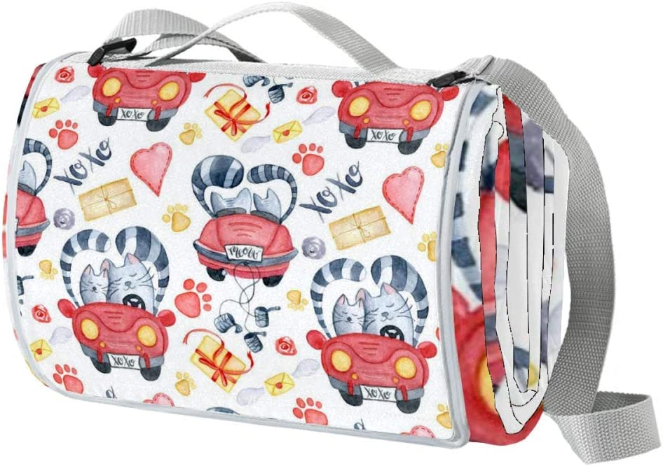 XJJUSC Valentine's car Picnic Blanket Mat Extra Bombing new work Waterproof Larg Colorado Springs Mall