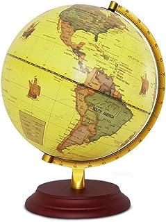 LQQFF Útiles Escolares Globe, versión en inglés. 25 cm. Estudiantes de Secundaria. Docencia Especial. Lámpara de Mesa Luminosa.