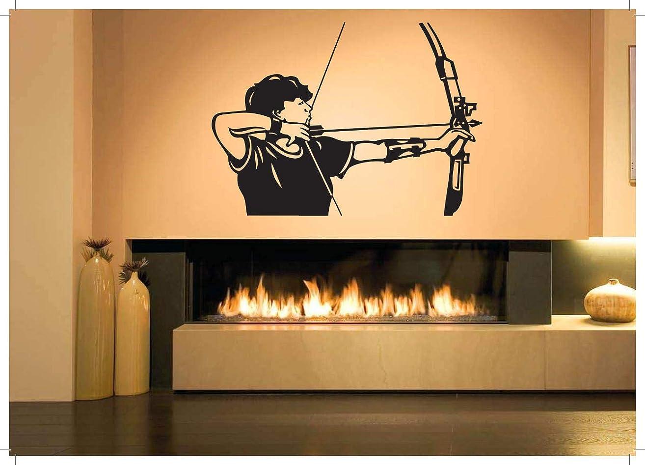 Vinyl Sticker Archer Sniper Sagittarius Hunting Archery Sport Arrow Bow Weapon USA America Military Army Patriot Mural Decal Wall Art Decor SA1862