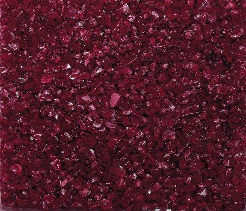 Eurosand GLASNUGGETS 2-4mm. Dekoglas. Kleine Glassteine, Glasgranulat. 1 kg. Burgund -03