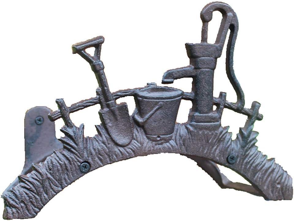 JHXL Garden service Hose Reel Excellent Wrought Rac Storage Iron Wall-Mounted