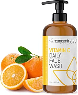 Concentrated Naturals Vitamin C Face Wash Daily Cleanser w/ Marine & Plant Extracts & Retinol | Works to Help Cleaner, Brighten & Balance Complexion 8 Fl. Oz. | 240mL