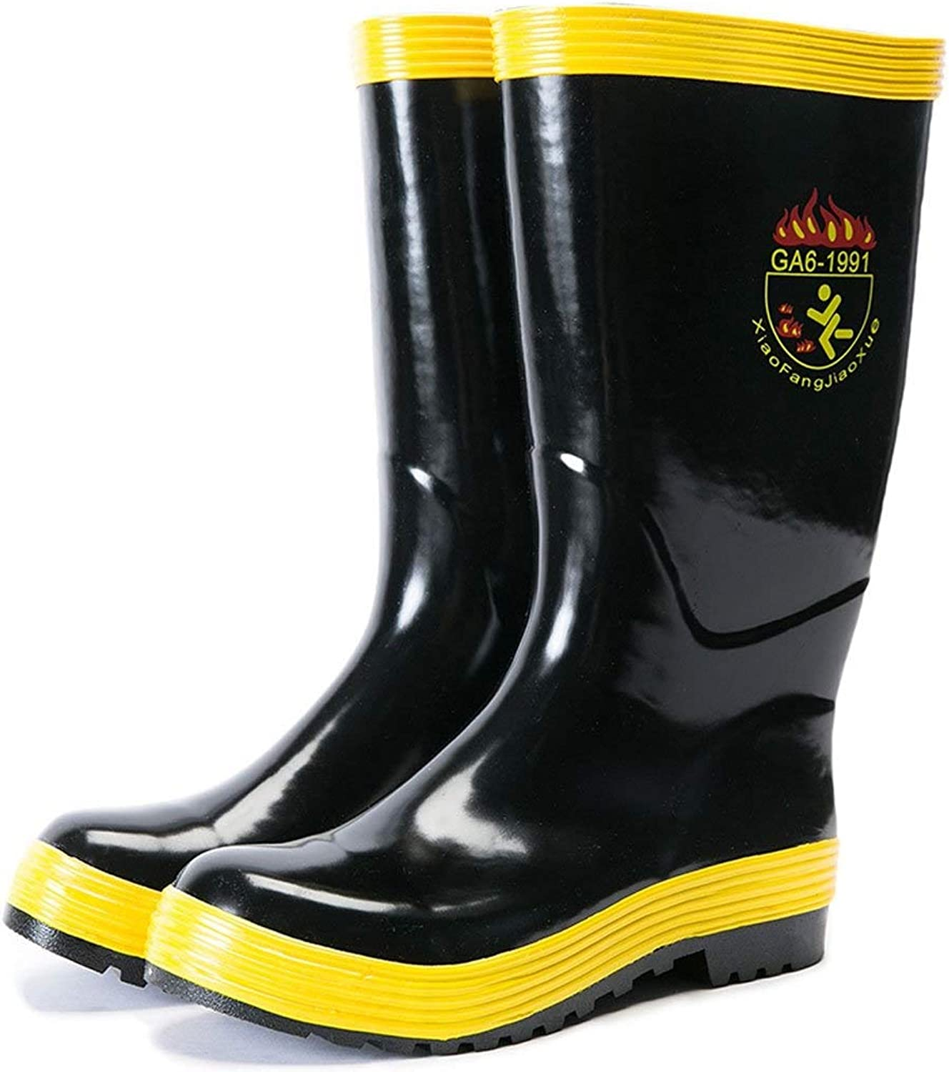 HYZSX Rain Boots, High Boots, Spring and Autumn Rubber shoes, Insulated Electric Water shoes, Predection Rain Boots
