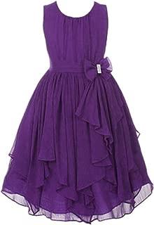 girls purple chiffon dress