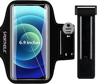 comprar comparacion PORTHOLIC Brazalete Deportivo para Correr, Brazalete Movil Running para iPhone 11 Pro Max/X/XS/8p/7p/6p, Galaxy S20/10+/9+...