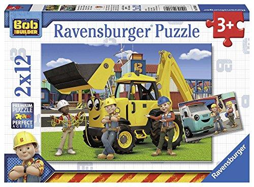 Ravensburger - 07604 8 - Puzzle - Bob Le Bricoleur - 2 x 12 Pièces