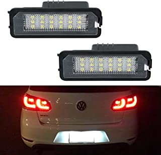 License Plate Light, GemPro LED License Plate Lamp Assembly For Volkswagen VW Golf 4 5 6 GTi CC Rabbit Eos Beetle Porsche Boxster Cayman Cayenne Carrera, Powered by 18SMD Xenon White LED Lights-2pcs
