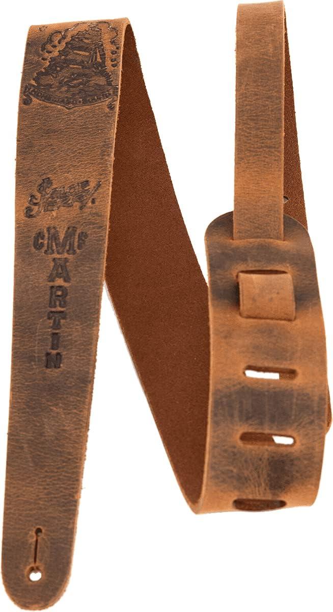 Martin Max 53% OFF Homeward Dedication Leather Guitar Strap