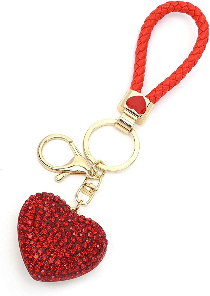 Crystal Heart Key Chain Very popular for Manufacturer regenerated product Bag Glitter Rhinestone Charm Women
