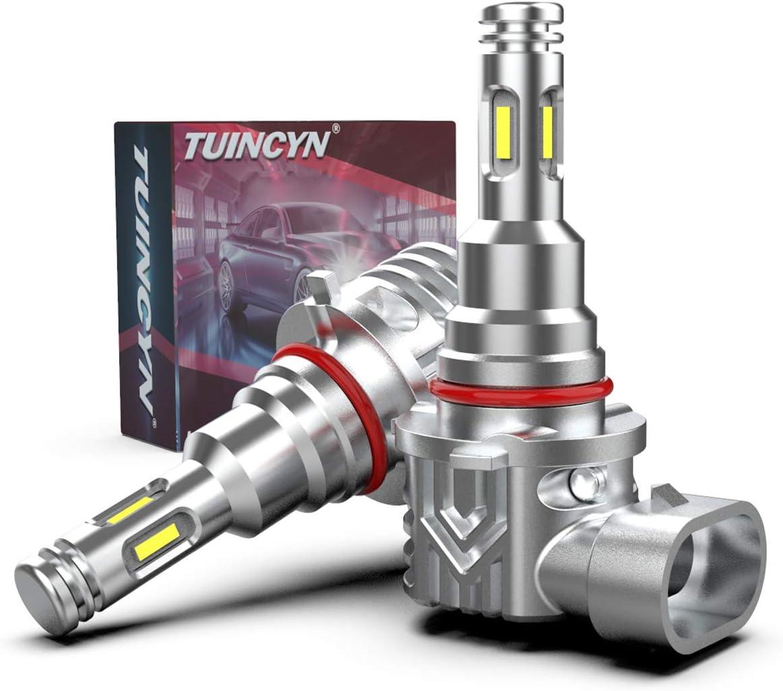 TUINCYN H10 9145 Bombilla de luz antiniebla LED, 3600 lúmenes 9140 9045 9005 9040 HB3 Chip CSP extremadamente brillante, 80 W, 6000 K, luz antiniebla blanca halógena de repuesto, paquete de 2