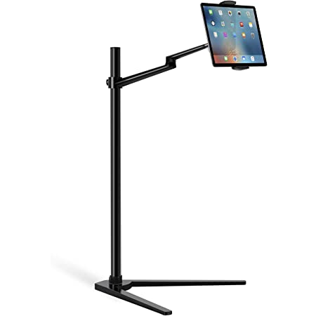 MPK Tablet Floor Stand, Holder for iPad,Applicable to 3.5~6.7inch Smart Phone and 7~13 inch Tablet Such as iPad, iPhone X, iPad Pro,iPad Mini, iPad Air 1-2 / iPad 2-4 (Black)