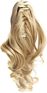 Honghii Full Head Clip in Hair Extensions Wavy Curly Clips Hair Natural Curly Straight Clip Hairpiece