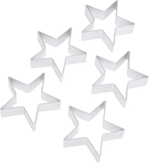 Ogori 20pcs Plunger Fondant star Cutters Cookie Cutters Sugarcraft Cake Decorating Tools Square//Round//Heart//Oval//Five-Pointed Star//diamond