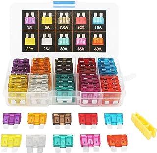 Cikuso 10 Piezas Fusibles Coloridos de Cuchillas ATC para automoviles 5A 7.5A 10A 15A 20A 25A 30A