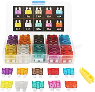 EEFUN CAR Fuse Set 80 PCS Assorted Standard Blade Fuse Used for Auto, Car, Truck, SUV, Home (3/5/7.5/10/15/20/25/30/35/40 AMP Replacement Fuse)