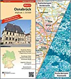 Osnabrück: Umgebungskarte mit Satellitenbild 1:250.000 (TK250 / Topographische und Satellitenbildkarte)