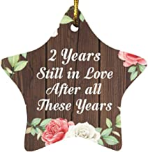 2nd Anniversary 2 Years Still in Love After These Years - Star Wood Ornament A Christmas Tree Hanging Decor - for Wife Hus...