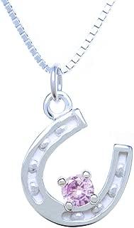 Best birthstone horseshoe necklace Reviews