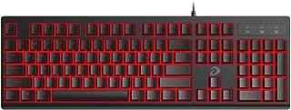 DAREU Gaming Keyboard 7 Colors LED Backlit 104 Keys USB Wired Mechanical Feeling Keyboard for Window PC Gamers Desktop Computer, Black LK135