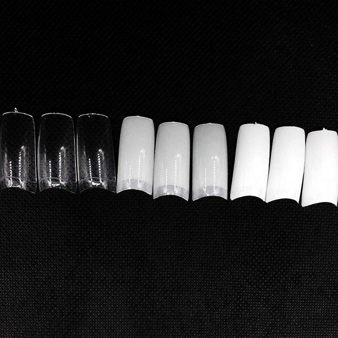 通行人見出しでもネイルチップ つけ爪 偽爪 無地 ロング オーバル 10サイズ デコレーション フルチップ シンプル DIY デザイン 500個/セット Moomai