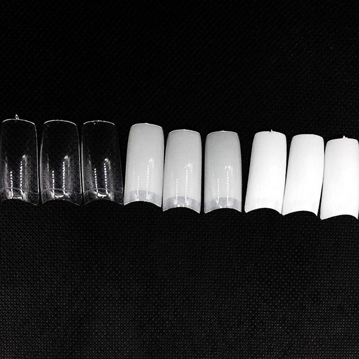 詩平衡鬼ごっこネイルチップ つけ爪 偽爪 無地 ロング オーバル 10サイズ デコレーション フルチップ シンプル DIY デザイン 500個/セット Moomai