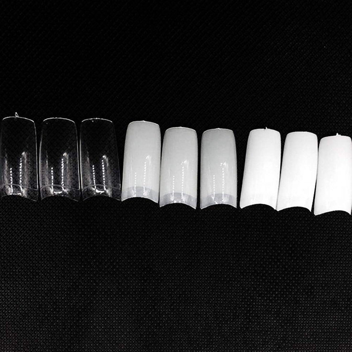 行為真実にに対応ネイルチップ つけ爪 偽爪 無地 ロング オーバル 10サイズ デコレーション フルチップ シンプル DIY デザイン 500個/セット Moomai