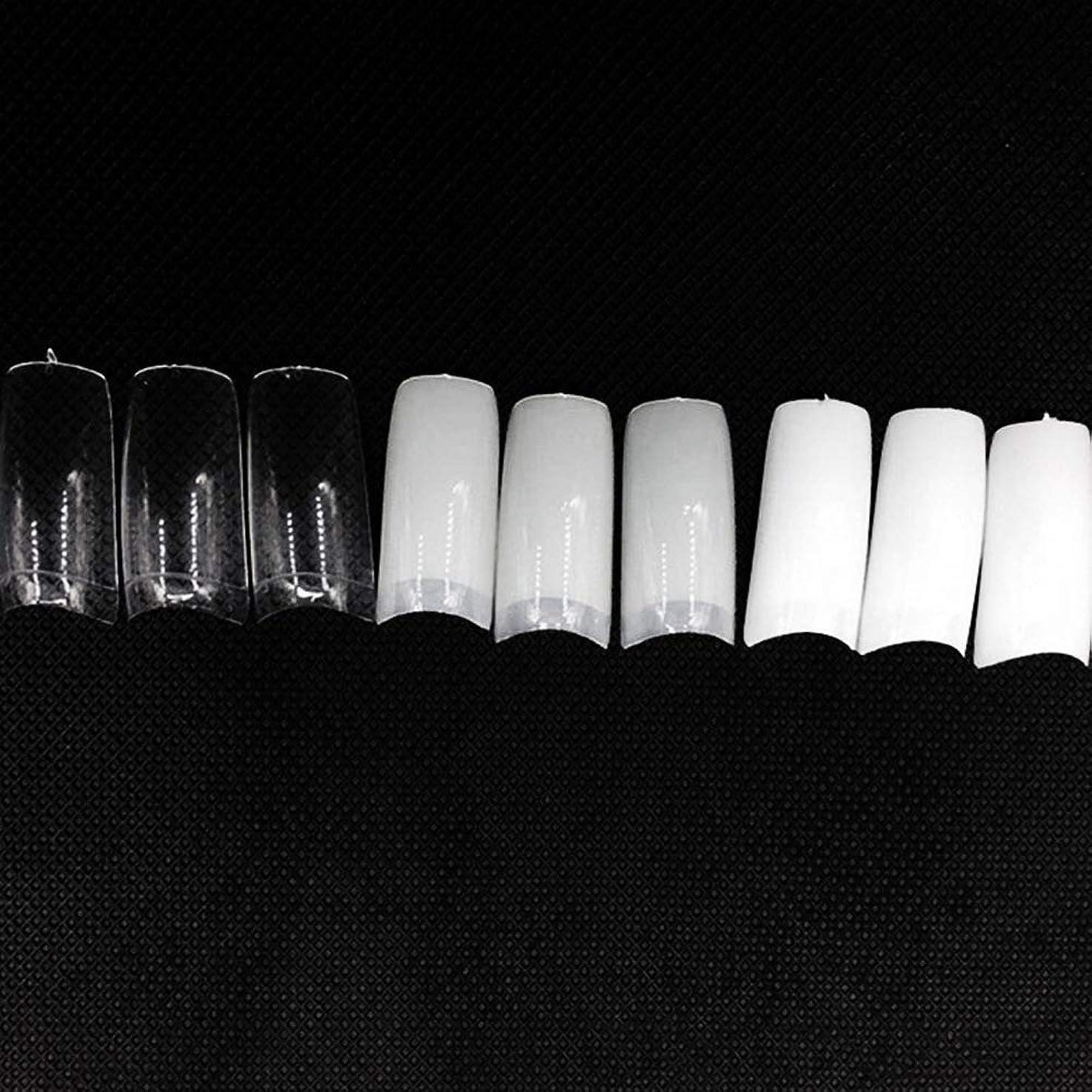 発見レタッチ喪ネイルチップ つけ爪 偽爪 無地 ロング オーバル 10サイズ デコレーション フルチップ シンプル DIY デザイン 500個/セット Moomai