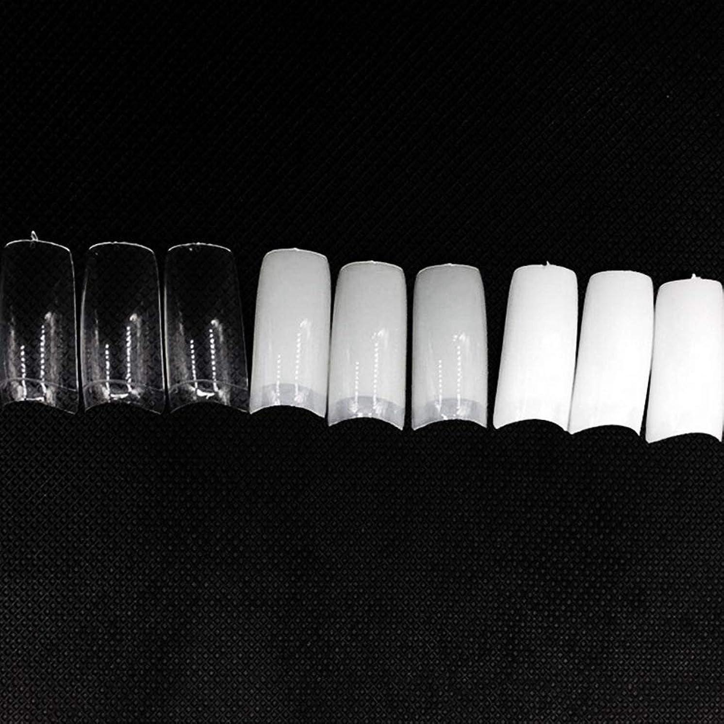 ロマンスいつかポルノネイルチップ つけ爪 偽爪 無地 ロング オーバル 10サイズ デコレーション フルチップ シンプル DIY デザイン 500個/セット Moomai