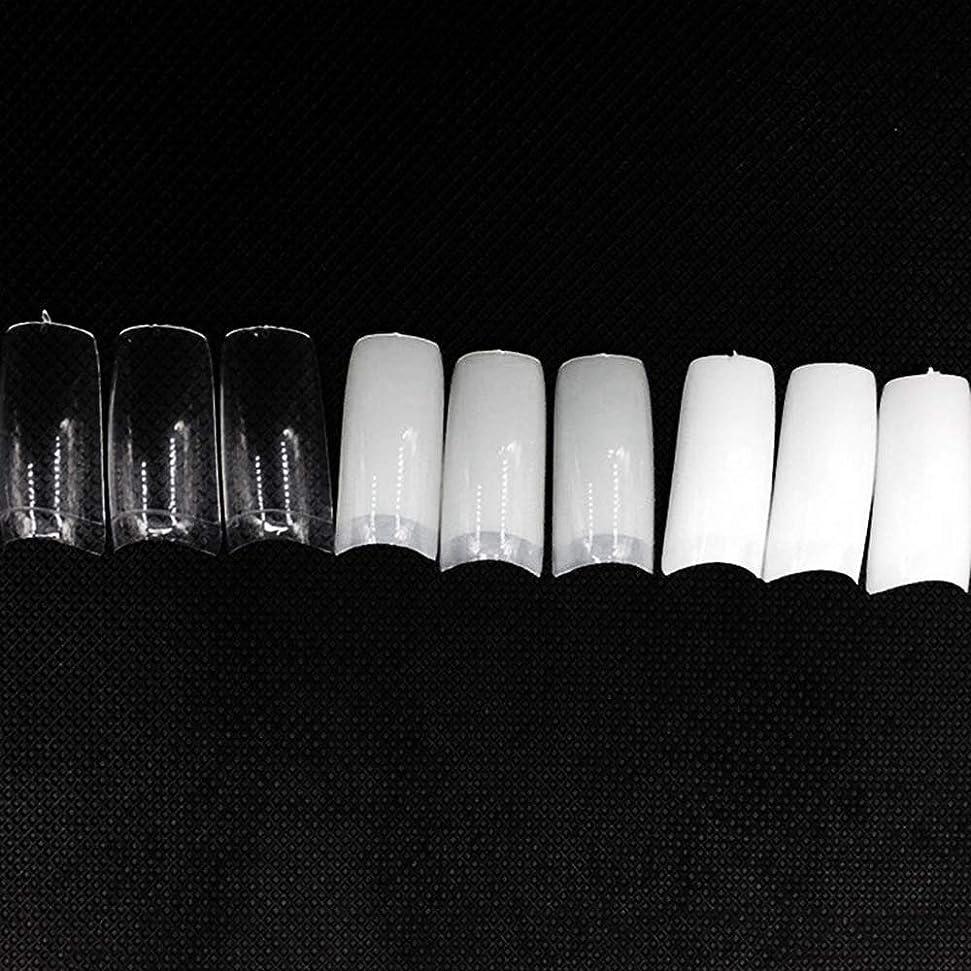 欠陥ほのめかす絶えずネイルチップ つけ爪 偽爪 無地 ロング オーバル 10サイズ デコレーション フルチップ シンプル DIY デザイン 500個/セット Moomai