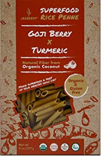 Jasberry Organic Rice Penne With Goji Berry And Turmeric, 227 gm