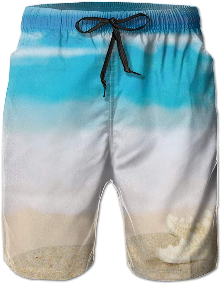 Jiulong Starfish and The Sea Summer Short Surf Swim San Diego Mall Now free shipping Trunks Beach