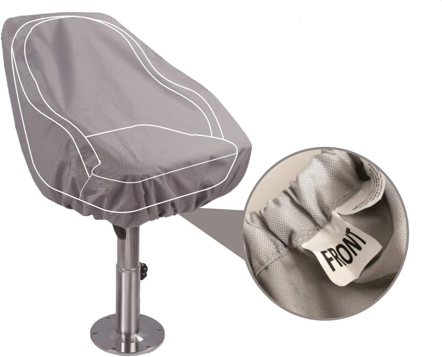 NORTHCAPTAIN Pontoon Boat Seat Captain Bucket Seat with Boat Seat Cover