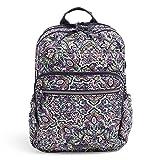 Vera Bradley Women's Signature Cotton XL Campus Backpack, Bonbon Medallion, One Size