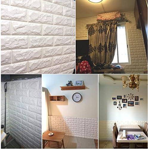 Attirant Amazon.com: Wowall Home Decor 3D PE Foam Tile Sticker For Kitchen  Backsplash Wall Panels Textured Design Art Tiles Wall Tile: Home U0026 Kitchen
