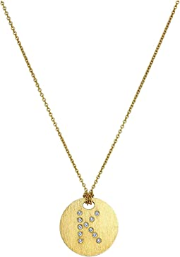 Tiny Treasures 18K Yellow Gold Initial K Pendant Necklace