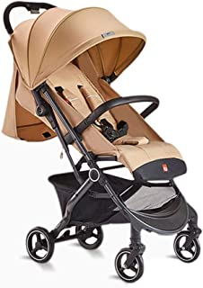 Pushchairs Pram Stroller High Landscape Away from Automobile Exhaust Weather Protection Cover with Reclining Backrest for 1 Month 4 Years Old - E