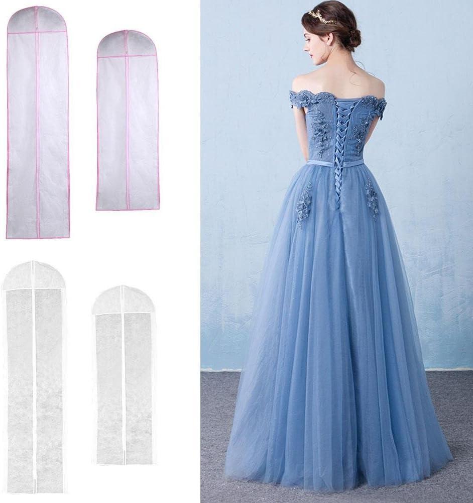 Extragroß Abendkleid Aufbewahrungstasche Weiß Braut Hochzeit Kleid Staubschutz
