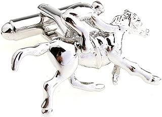Presentation Gift Box Horse Jockey Pair Cufflinks & Polishing Cloth