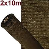 ARTISEC Malla de sombreo ocultación Lona Sombra Color Marrón 2x10m Metros rejas