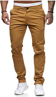 VITryst Mens Long Pants Relaxed Fit Oversized Summer Solid Colored Trousers