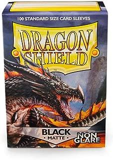 Dragon Shields: 100 Count Non Glare Matte Black Sleeves