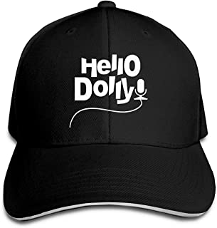 A1IW4-US Women's and Men's Baseball Cap Hello Dolly Cotton Dad Hat Adjustable Retro Sports & Outdoors Caps Black